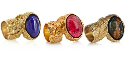 Spotlight: Yves Saint Laurent rings..