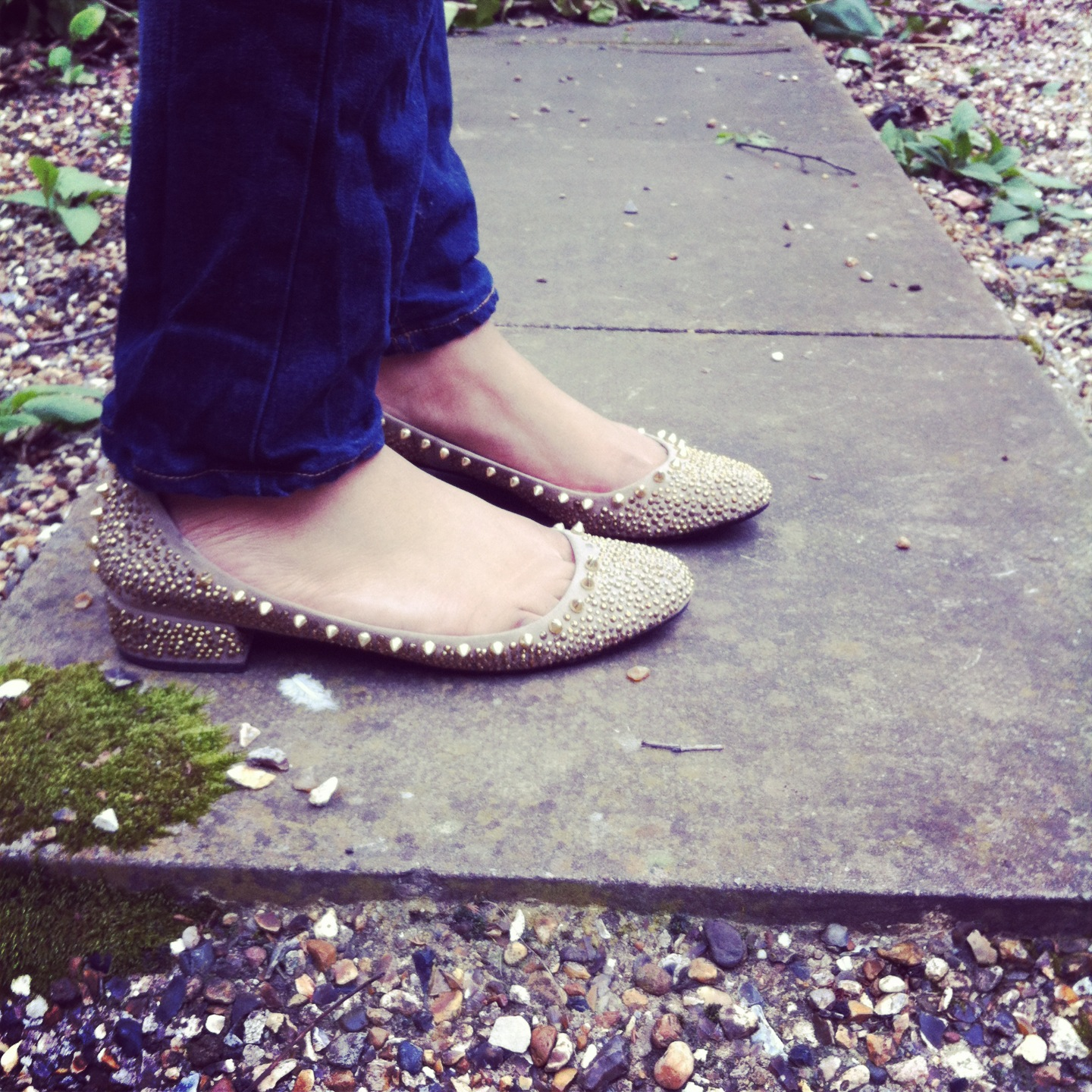 zara spiked shoes