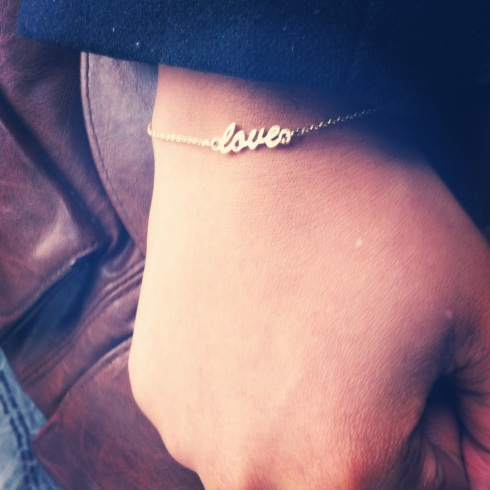 delicate love bracelet