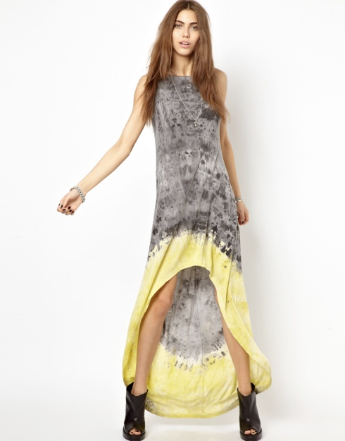 religion tie dye maxi dress