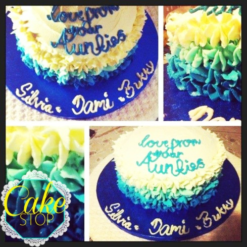Ombre Baby Shower Cake FB