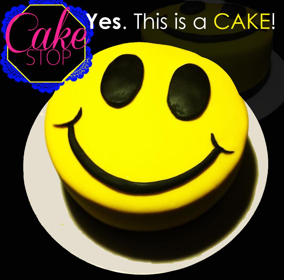 Smiley Face emoticon cake