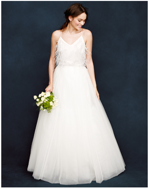 j. crew wedding dress
