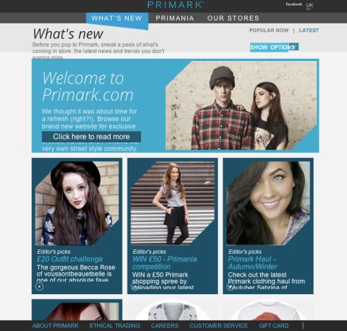 primark website